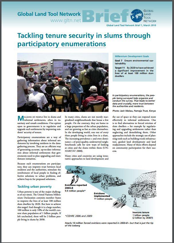 Tackling tenure security in slums through participatory