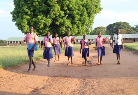 Children leaving school in the evening in Pajule sub county, Pader district in North Uganda Photo: UN Habitat/Grace Kibunja