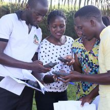 Enumerator dry test training in Kalangala for oil palm smallholder farmer mapping
