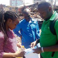 Participatory enumerations in Mashimoni settlement, Mathare, Nairobi County