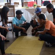 Participants draw their 'dream community' during the training
