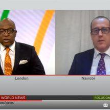 BBCs Peter Okwoche (left) discusses evictions and demolitions with UN-Habitat/GLTN's Robert Lewis-Lettington